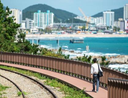 Head to Sampo Coastal Trail, and visit three major ports in Busan!
