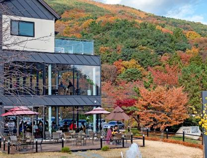 Walk on Beomnidangil Street along the Geumjeongsan Mountain Range while appreciating nature