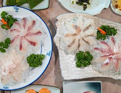 I want some sliced raw fish today!