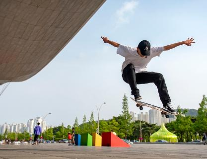 Busan's skateboarding and inline skating spots
